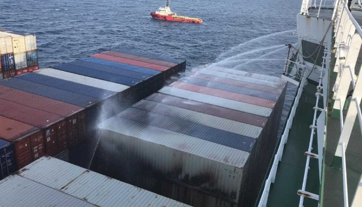 APL Vancouver Fire Under Control off Vietnam