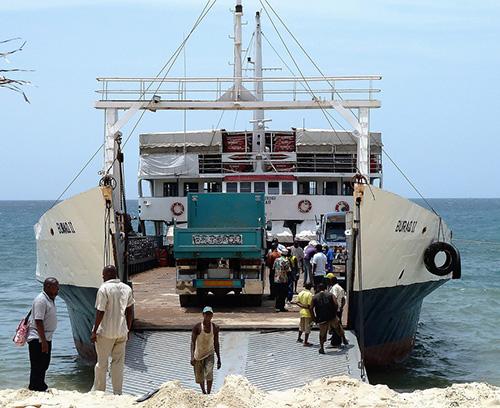 RoRo transporting trucks
