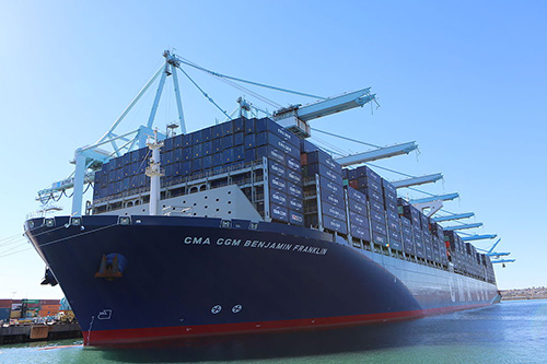 CMA CGM Benjamin Franklin - Largest container ships