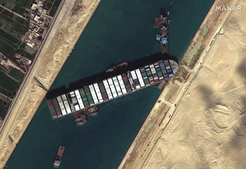 Suez Canal blocked by Ever Given