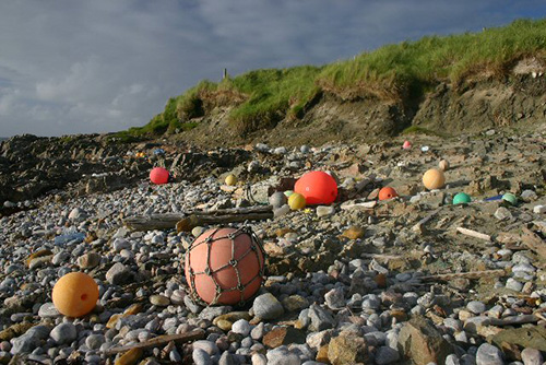 Flotsam on a beach