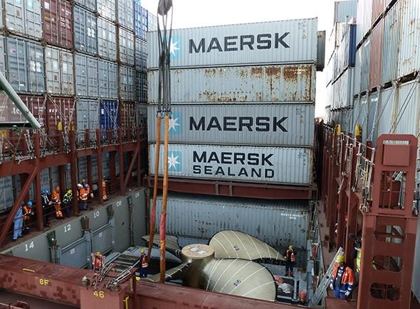 Emma Maersk Propeller