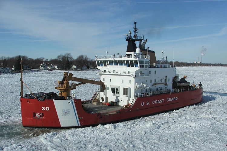 Coast Guard Cutter Mackinaw, a 240-foot heavy icebreaker