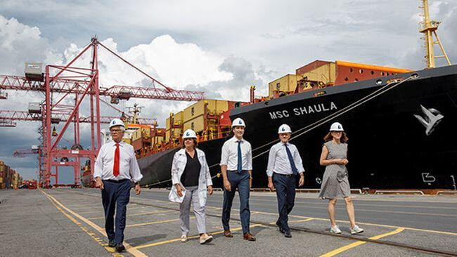 MSC And Termont Welcome Justin Trudeau At Visit To Port Of Montreal