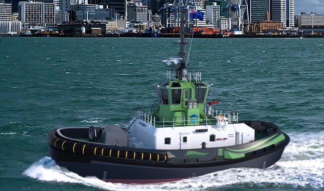 Ports Of Auckland Signs Contract With Damen For World's First Fully Electric Ship Handling Tug