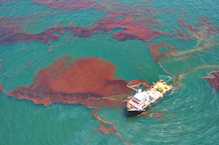Skimming Oil after an Oil Spill