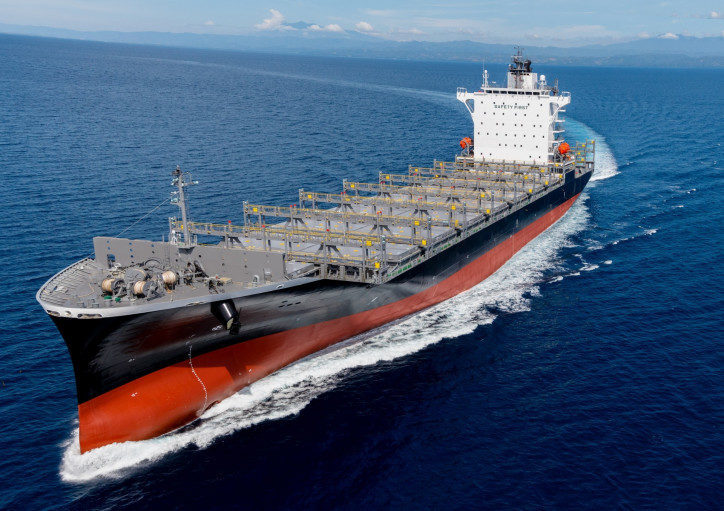 Tsuneishi Ship Building delivers its first 1900 TEU container carrier to Bangkok.