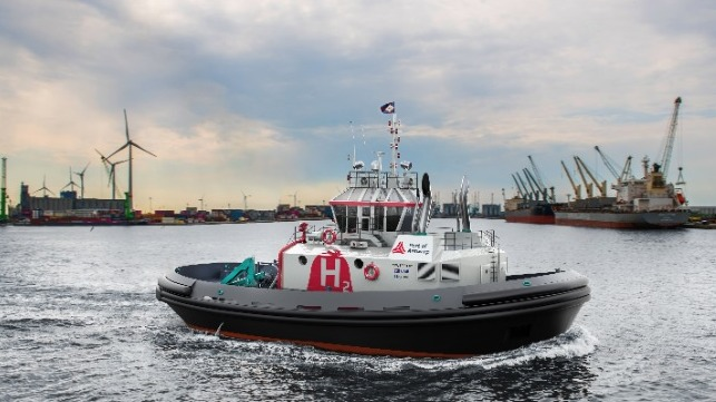 Worlds First Hydrogen-Powered Tug Hydrotug In Port Of Antwerp