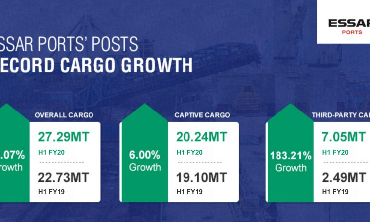 Essar Ports Posts Record Cargo Growth Of 20.07 Percent In H1FY20 1