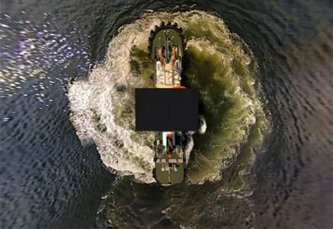 MOL And OKI To Launch Joint Study Of 360° Bird's-Eye View Monitoring System On Tugboat