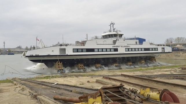 Damen Launches Road Ferry 6819 E3 At Damen Shipyards Galati 1