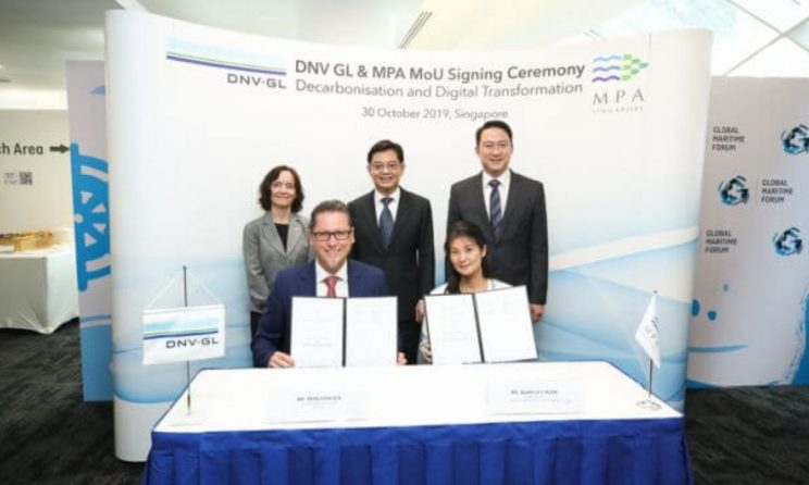 DNV GL And MPA Singapore Ink Expanded Maritime R&D; MoU To Promote Decarbonization