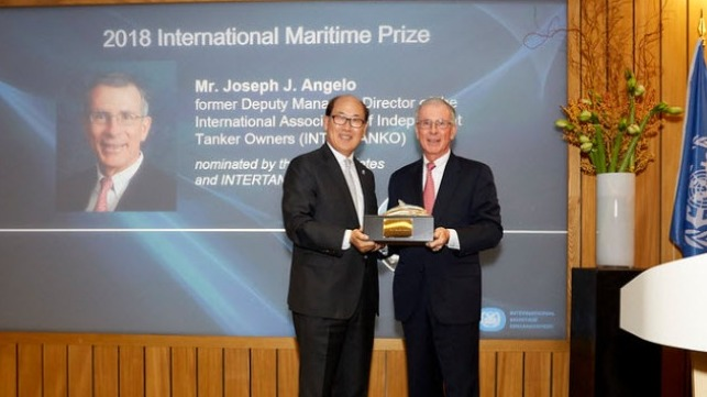 International Maritime Prize For 2018 Presented To Mr. Joseph J. Angelo (USA) 5