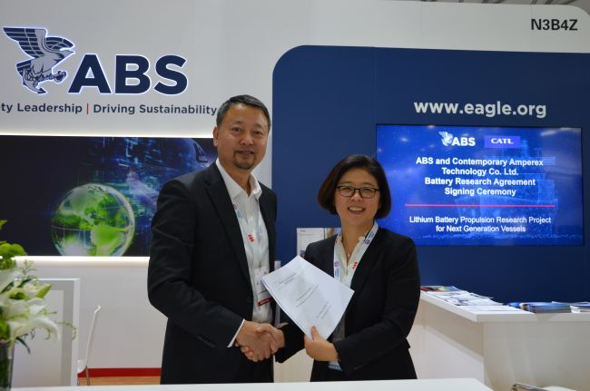 ABS And CATL Join Hands For Lithium Battery Propulsion Research Project
