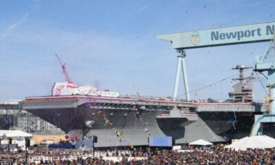 HII Christens US Navy's Newbuild Nuclear-Powered Aircraft-Carrier John F. Kennedy
