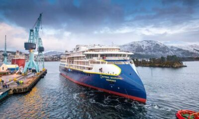 Ulstein's First X-BOW Polar Vessel 'National Geographic Endurance' Launched 11