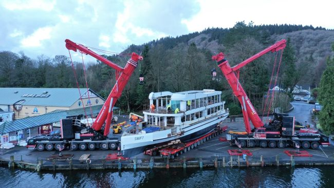 Damen Technical Cooperation Launches Windermere Lake Cruises' New Vessel 5