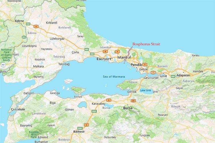 Bosphorus Straits Map