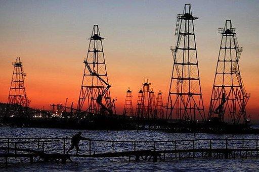 "Oil Drilling Rig in Caspian Sea"" https://commons.wikimedia.org/wiki/File:Drilling_rig_in_Caspian_sea.jpg"