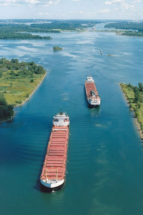 St. Lawrence Seaway Aerial View